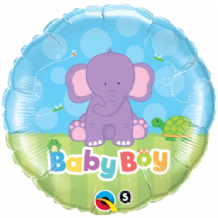 "Baby Boy Elephant Foil Balloon (18"") 1pc"